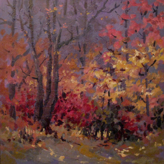 "Autumn Light II  24"" x 24""  (Sold)"