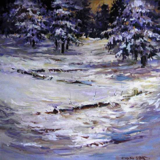 "Winter Peace  30"" x 30""  (Sold)"
